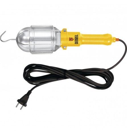 Лампа переносная 60 W, кабель 5 метров// Denzel