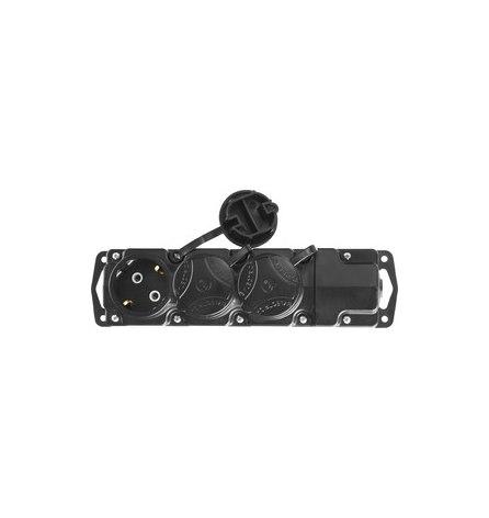 Колодка для удлинителя СИБИН, 3 гнезда, заземление, IP44