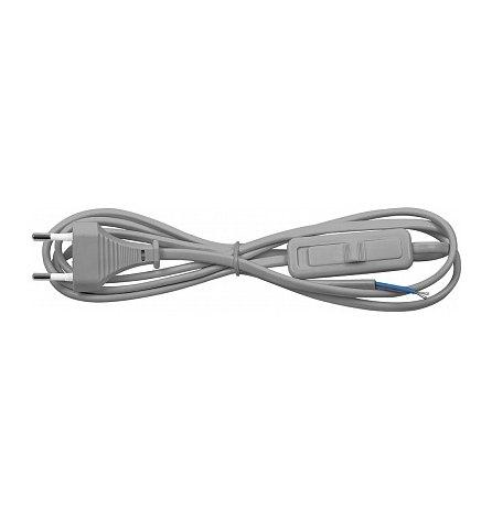 Сетевой шнур с выключателем 230V 1.9м серый