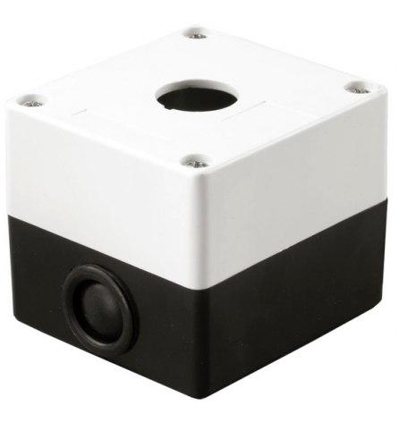 Корпус КП101 пластиковый 1 кнопка белый, EKF