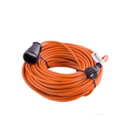 Удлинитель-шнур силовой, 50м, 1 розетка, 10A, тип УХ10// Denzel
