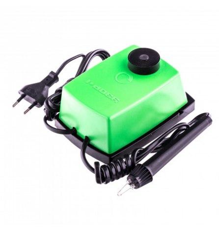 """Электроприбор для выжигания по дереву """"Узор 1"""" с подставкой, 1 зап. игла, 5 проекций // Сибртех."""