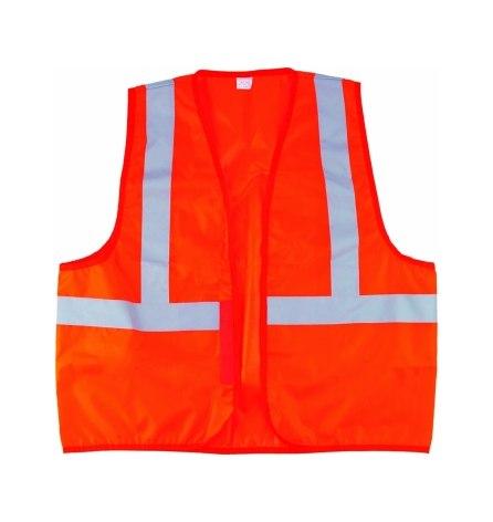 Жилет сигнальный, оранжевый, размер XL / 52-54