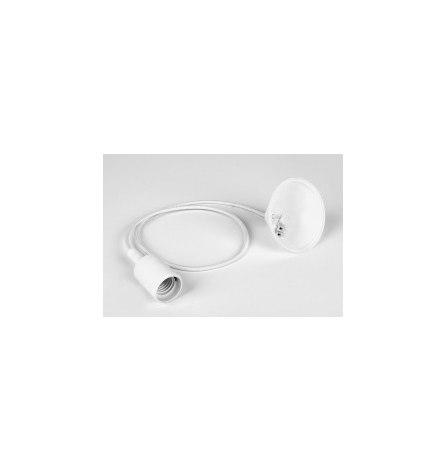 Патрон для лапм Е27 со шнуром 1м, белый LH127
