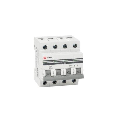 Выключатель нагрузки ВН-125, 4P 125А EKF PROxima