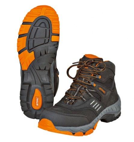 Ботинки защитные на шнуровке WORKER S3, чёрные/оранжевые, р.41, STIHL (0088-489-0041)