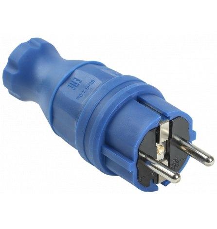 Вилка прямая ВБп3-1-0м IP44 ОМЕГА синяя IEK