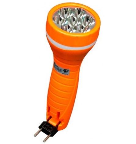 Фонарь аккумуляторный 7LED 0,6W оранжевый TL040