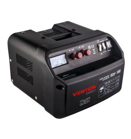 Пуско-зарядное устройство VERTON Energy ПЗУ-180 (12/24В, 40-700Ач, заряд 1.2кВт/40А, пуск 7.0кВт)