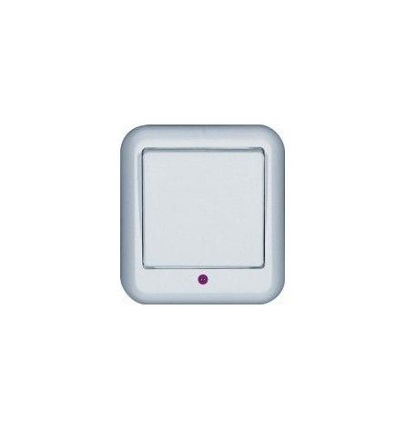 Выключатель W Прима О/У белый 1 клавиша, индикатор