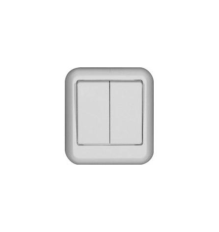 Выключатель W Прима О/У белый 2 клавиши