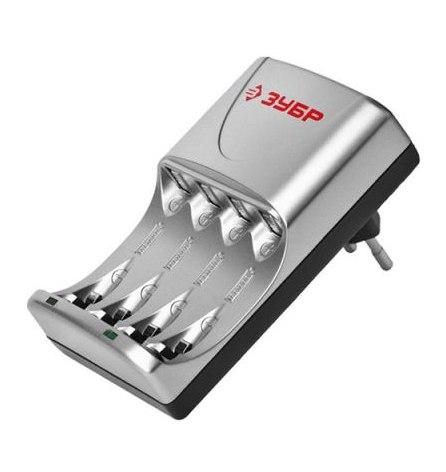 Зарядное устройство ЗУБР д/никель-металлгидридных аккумуляторов 4хААА/АА