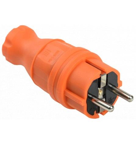 Вилка прямая ВБп3-1-0м IP44 ОМЕГА оранжевая IEK