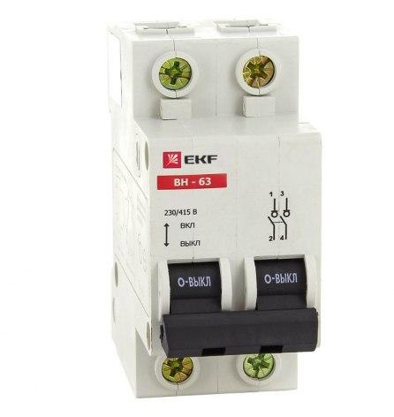 Выключатель нагрузки ВН-63, 2P 40А EKF PROxima