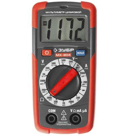 Мультиметр цифровой ЗУБР МХ-804