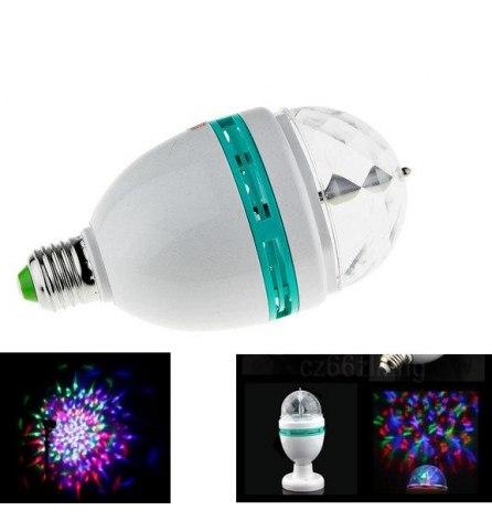 Диско-лампа светодиодная E27 220V