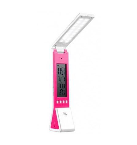 Светильник настольный 2W 18+3LED 5V розовый DE1711