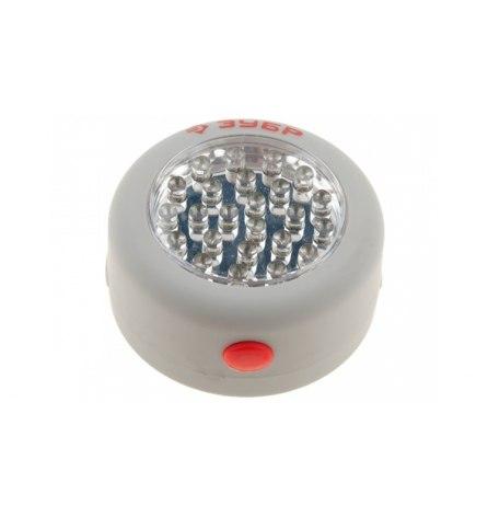 Фонарь светодиодный аккумуляторный 24LED(магнит),Зубр