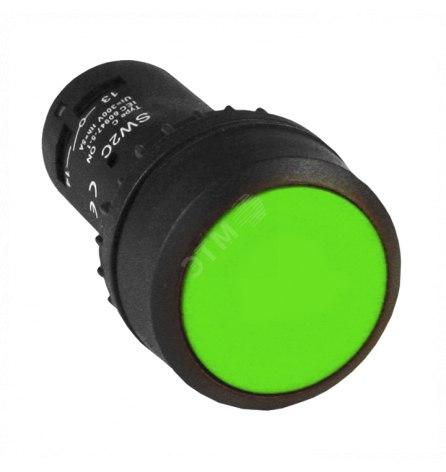 Кнопка SW2C-11 возвратная зеленая NO+NC, EKF
