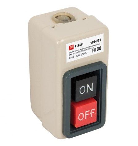 Выключатель с блокировкой ВКИ-211 6А 3Р IP40 EKF PROxima